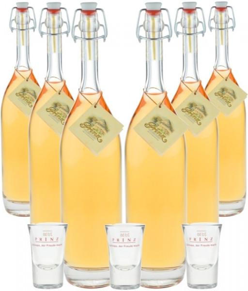 Prinz Alte Kirsche - 6 Flaschen 0,5l incl. 3 Prinz Stamperl Gläser