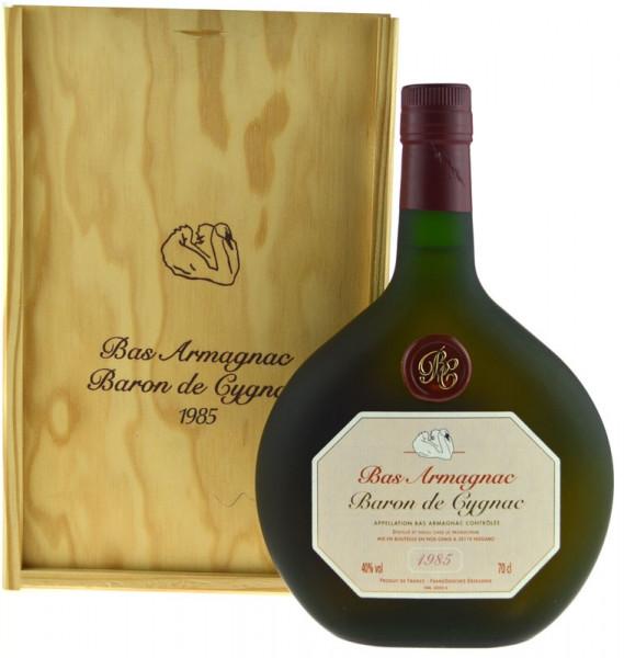 Armagnac Baron de Cygnac 0,7l Jahrgang 1985