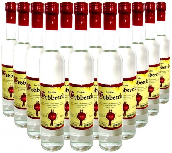 12 Flaschen Prinz Erdbeerla ( Erdbeerschnaps ) 0,5l aus Österreich