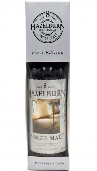 """Rarität: Hazelburn Whisky 8 Jahre 0,7l - First Edition Etikett """"Malzboden"""""""