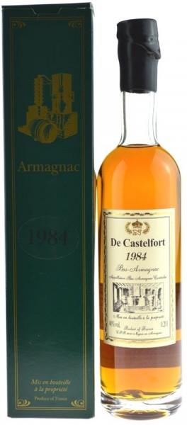 De Castelfort Jahrgang 1984 Bas Armagnac, abgefüllt 2013/2016