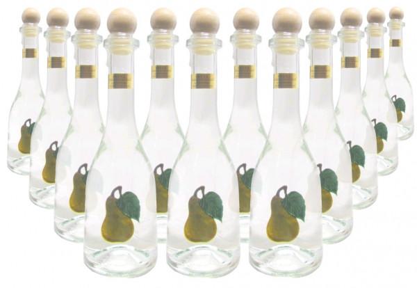 12 Flaschen Prinz Williamsschnaps 0,5l - Spirituose aus Österreich in Rustikaflasche mit Williams-Bi
