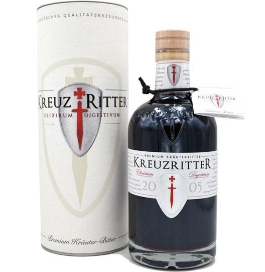 Kreuzritter Elixirum Digestivum 0,5l - Premium Kräuter-Bitter-Likör incl. Geschenkdose
