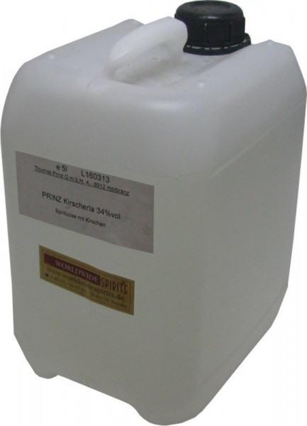 Prinz Kirscherla ( Kirschenschnaps ) 5 Liter Kanister aus Österreich