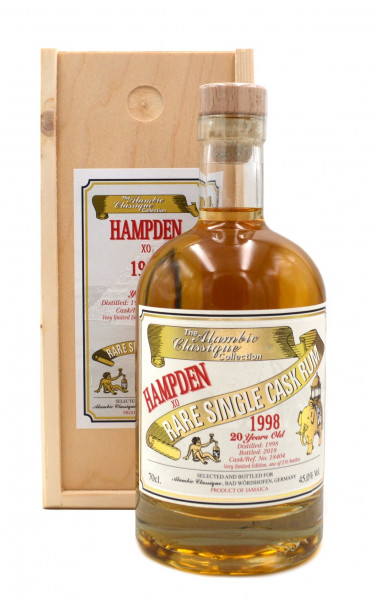 Hampden XO 1998/2018 - 20 Jahre - Rare Single Cask Rum 0,7l - Alambic Classique