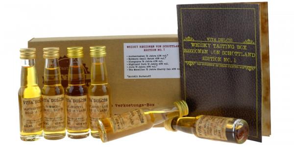 Whisky Tasting Box Regionen von Schottland 6x0,02l