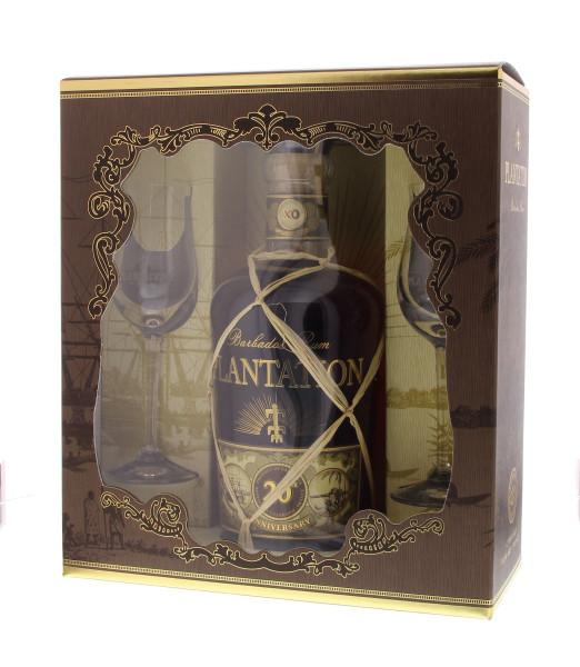 Plantation Barbados Rum XO 20th Anniversary 0,7l mit 2 Gläsern