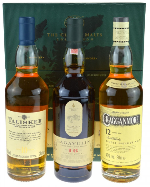 The Classic Malt Collection 3x0,2l (Lagavulin 16 Jahre, Talisker 10 Jahre, Cragganmore 12 Jahre)