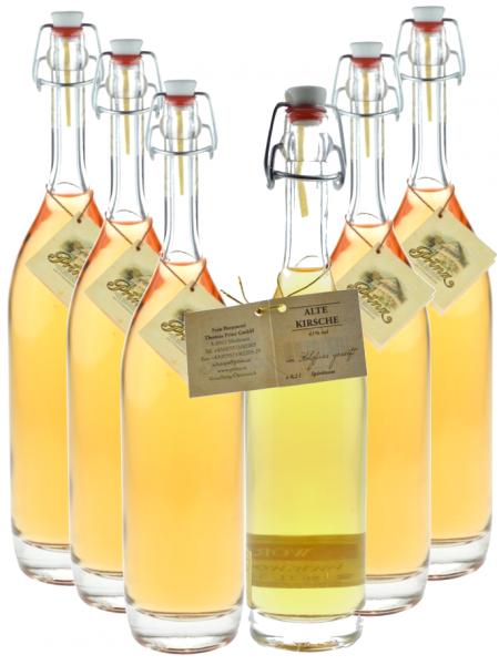 6 Flaschen Prinz Alte Kirsche 0,5l in Bügelflasche - im Holzfass gereift aus Österreich