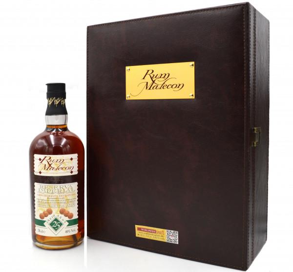 Malecon Rum 25 Jahre 0,7l GP mit 2 Gläsern