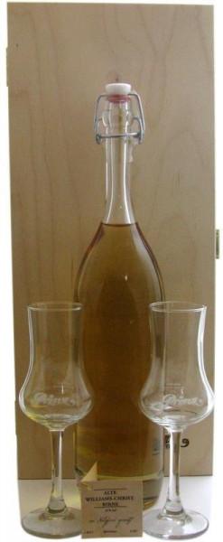 Prinz Gold aus Österreich Nr.3: Holzkiste mit 1 Flasche Alte Williams 0,5l mit 41% vol., im Holzfass