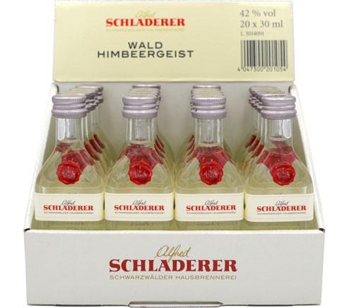 Schladerer Himbeergeist 20x0,03l Miniaturen