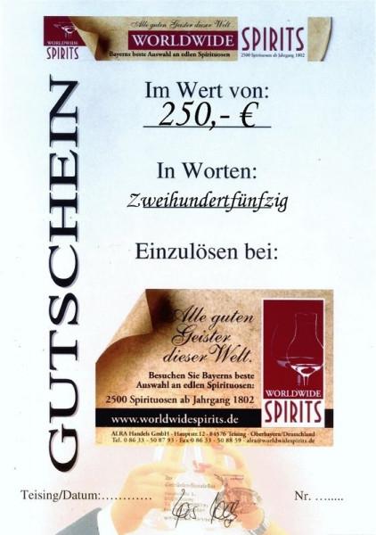 Gutschein über Euro 250,00