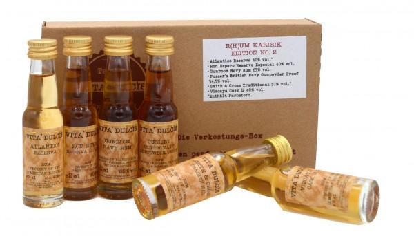 Vita Dulcis Tasting Box R(h)um Nr. 6: Karibik Edition No.2 - 6x0,02l