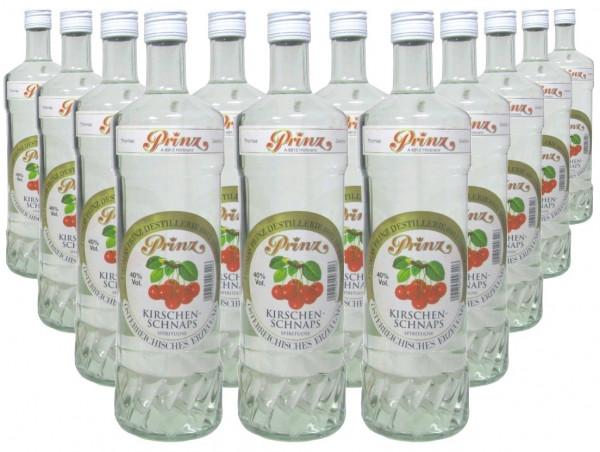 12 Flaschen Prinz Kirschenschnaps 1,0l - Spirituose aus Österreich - 4,8% Rabatt
