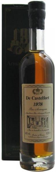 Armagnac De Castelfort 0,2l - Jahrgang 1978 - abgefüllt 2013 - 34 Jahre im Fass gelagert