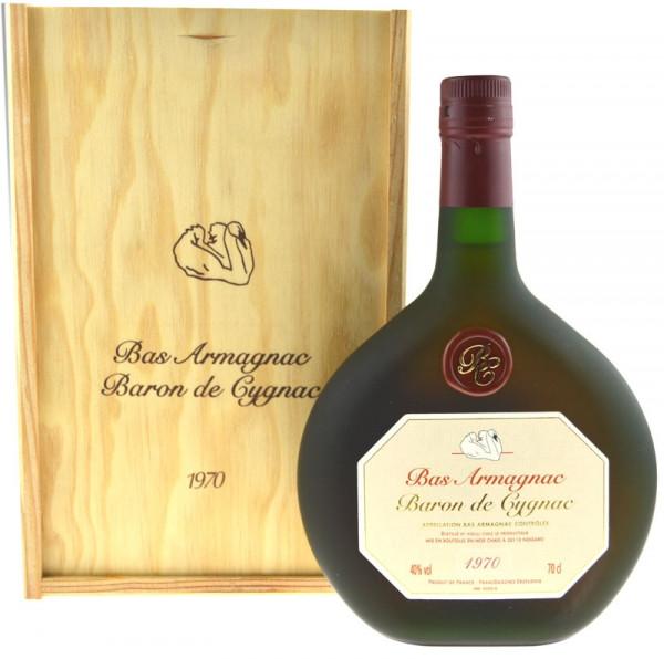 Armagnac Baron de Cygnac 0,7l Jahrgang 1970