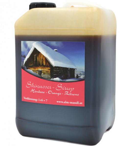 Alm Mand'l Schiwasser Himbeer-Orange-Zitrone Sirup 3,0l Kanister - Skiwasser aus Österreich