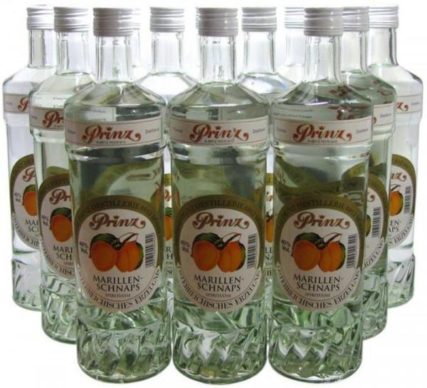 12 Flaschen Prinz Marillenschnaps 1,0l Spirituose aus Österreich