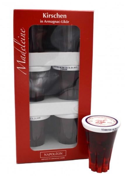 Madeleine Kirschen in Armagnac-Likör 9x0,04l Miniaturen