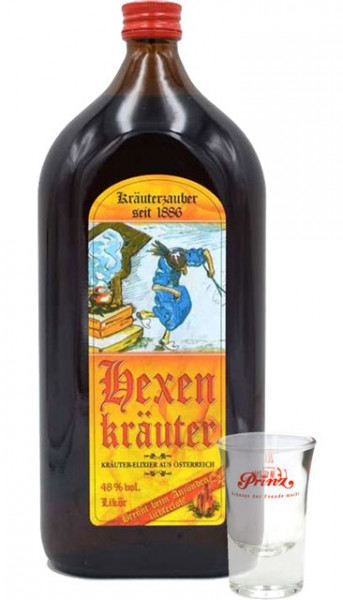 Prinz Hexenkräuter 1,0l + 1 Glas Kräuterlikör aus Österreich