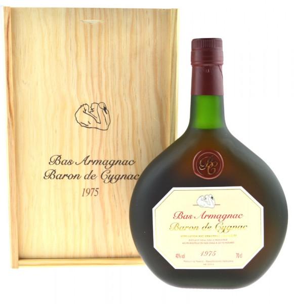 Armagnac Baron de Cygnac 0,7l Jahrgang 1975