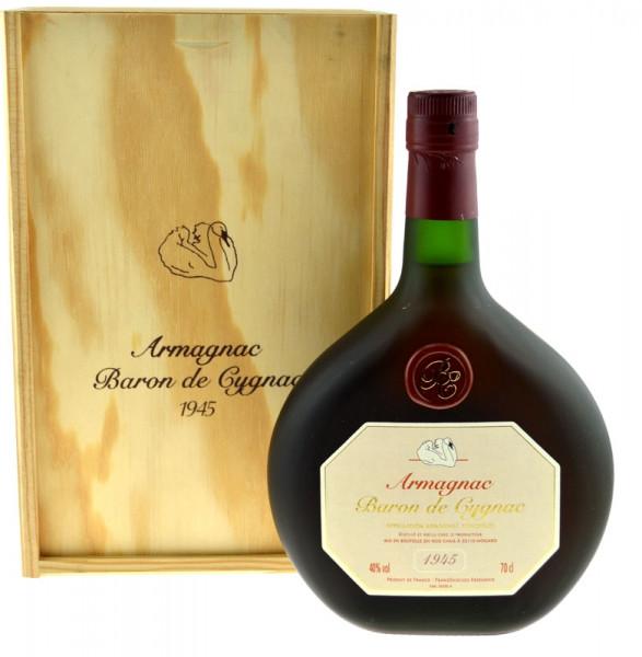 Armagnac Baron de Cygnac 0,7l Jahrgang 1945