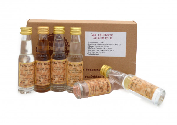 Vita Dulcis Tasting Box Gin Nr. 5: Underdogs Edition No.2 - 6x0,02l