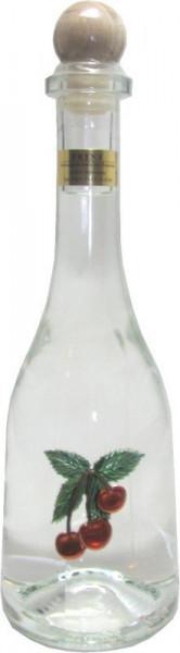 Prinz Kirschwasser 0,5l Spirituose aus Österreich in Rustikaflasche mit Kirschen-Fruchtmotiv aus Öst
