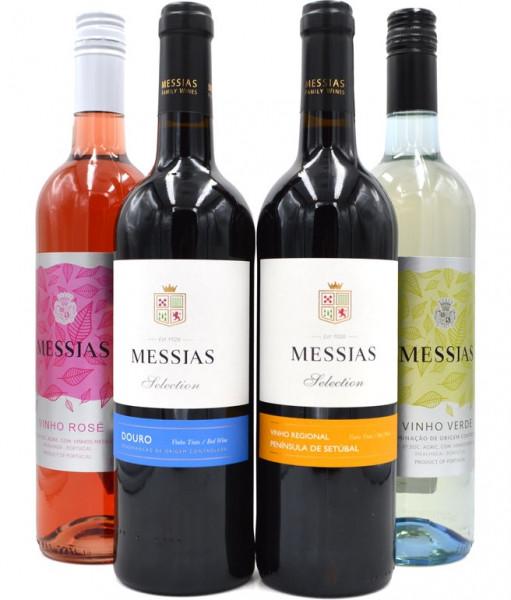 Messias Wein Paket (Peninsula, Duoro, Vinho Rosé, Vinho Verde) 4x 0,75l