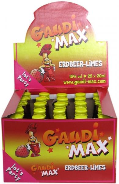 Gaudi-Max Erdbeerlimes 25x0,02l Miniaturen