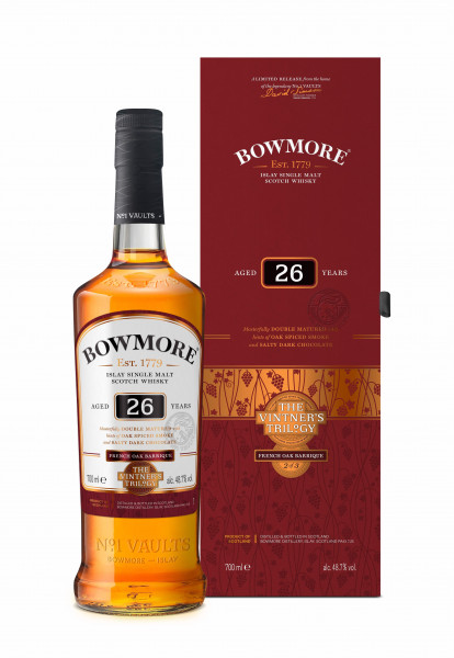 Bowmore 26 Jahre French Oak Barrique Vintner's Trilogy 0,7l