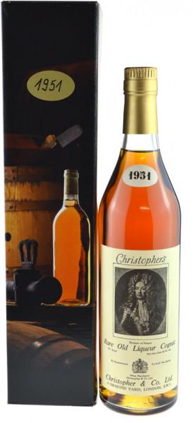 Christopher's Rare Old Liqueur Cognac Jahrgang 1951 - 70° Proof
