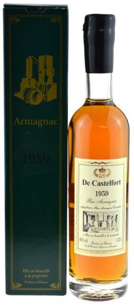 De Castelfort Armagnac Jahrgang 1959 - abgefüllt 2016 - 57 Jahre im Fass gelagert
