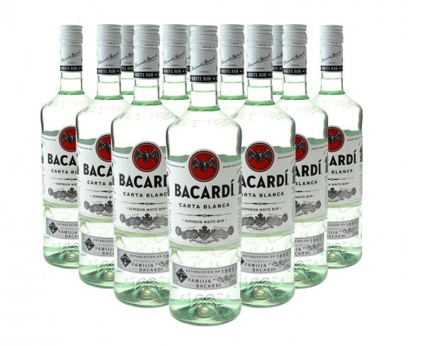12 Flaschen Bacardi Light Dry 1,0l - weisser Rum