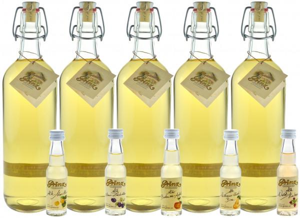 Prinz Alte Haselnuss - 5 Flaschen 1,0l & 6 Miniaturen Prinz Alte Sorten
