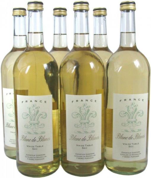 Blanc de Blancs Weißwein 6x1,0l
