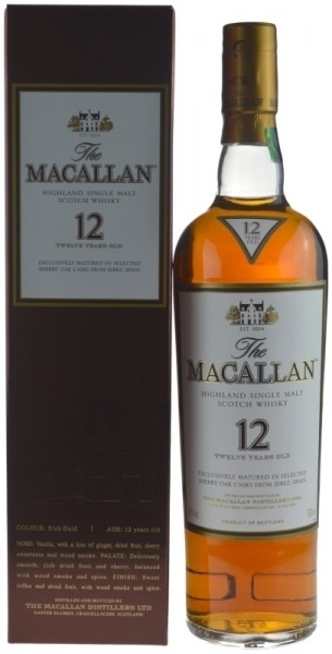 The Macallan Whisky 12 Jahre Sherry Oak 0,7l incl. Geschenkkarton - Single Highland Malt Scotch Whis