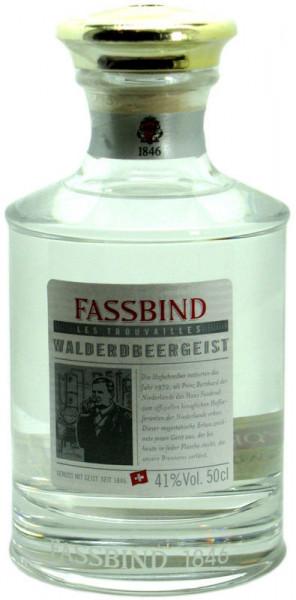 Fassbind Walderdbeergeist in exclusivem Kristalldekanter + Glasstopfen Edelbrand