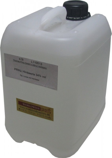Prinz Himbeerla ( Himbeerschnaps ) 5 Liter Kanister aus Österreich