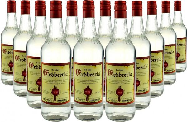 12 Flaschen Prinz Erdbeerla (Erdbeerschnaps) 1,0l aus Österreich