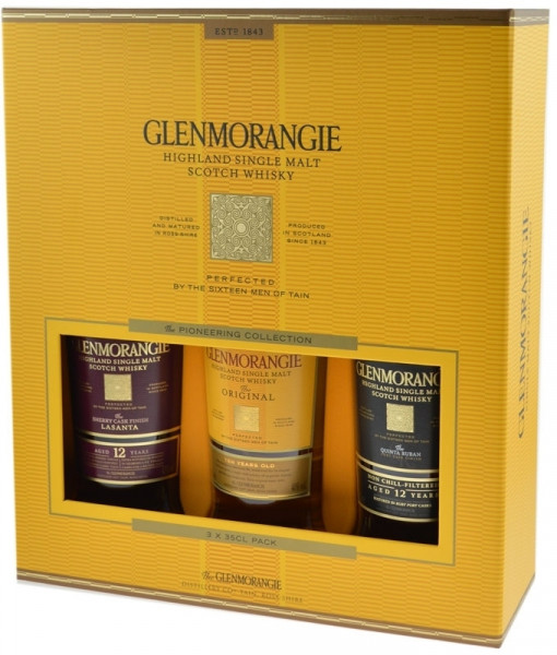 Glenmorangie Pioneering Collection Whisky 3x0,35l (Original, Quinta Ruban, Lasanta) in GP