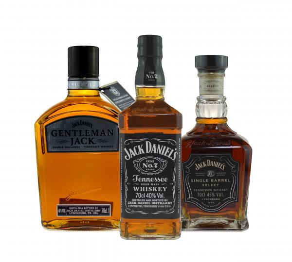 Jack Daniel's Paket (Jack Daniels, Gentleman Jack, Single Barrel) 3x0,7l