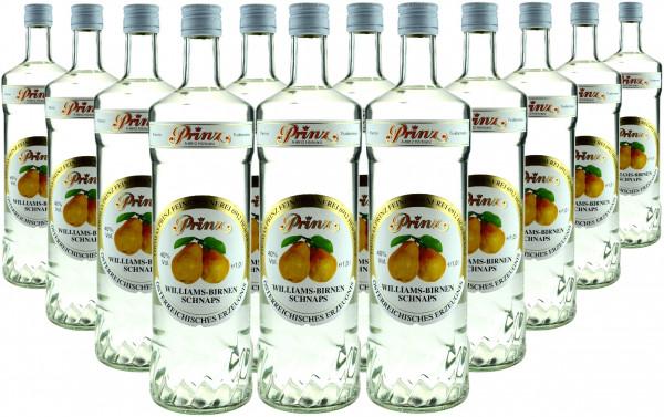 12 Flaschen Prinz Williams Birnen Schnaps 1,0l Spirituose aus Österreich - 4,8% Rabatt