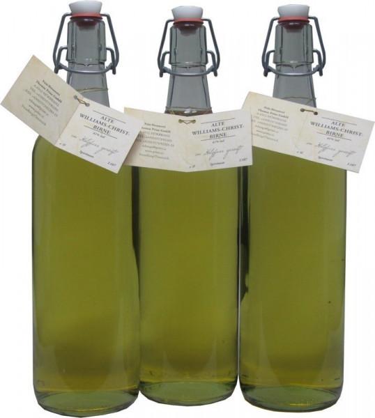 3 Flaschen Prinz Alte Williams Birnen Schnaps 1,0l im Holzfass gereift aus Österreich