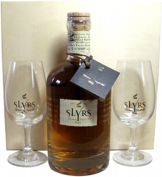 Slyrs Kerpalt Jahrgang 2008 incl. 2 Gläser + Holzkiste